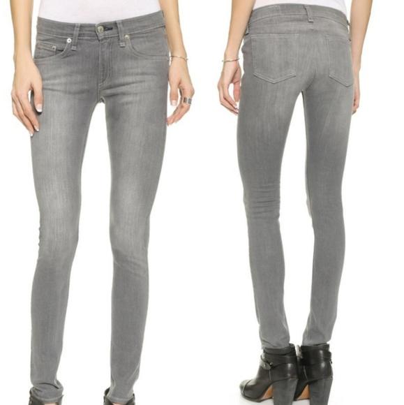 rag & bone Denim - Rag & Bone Gray Buxton Skinny Jeans | 25